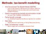 methods tax benefit modelling