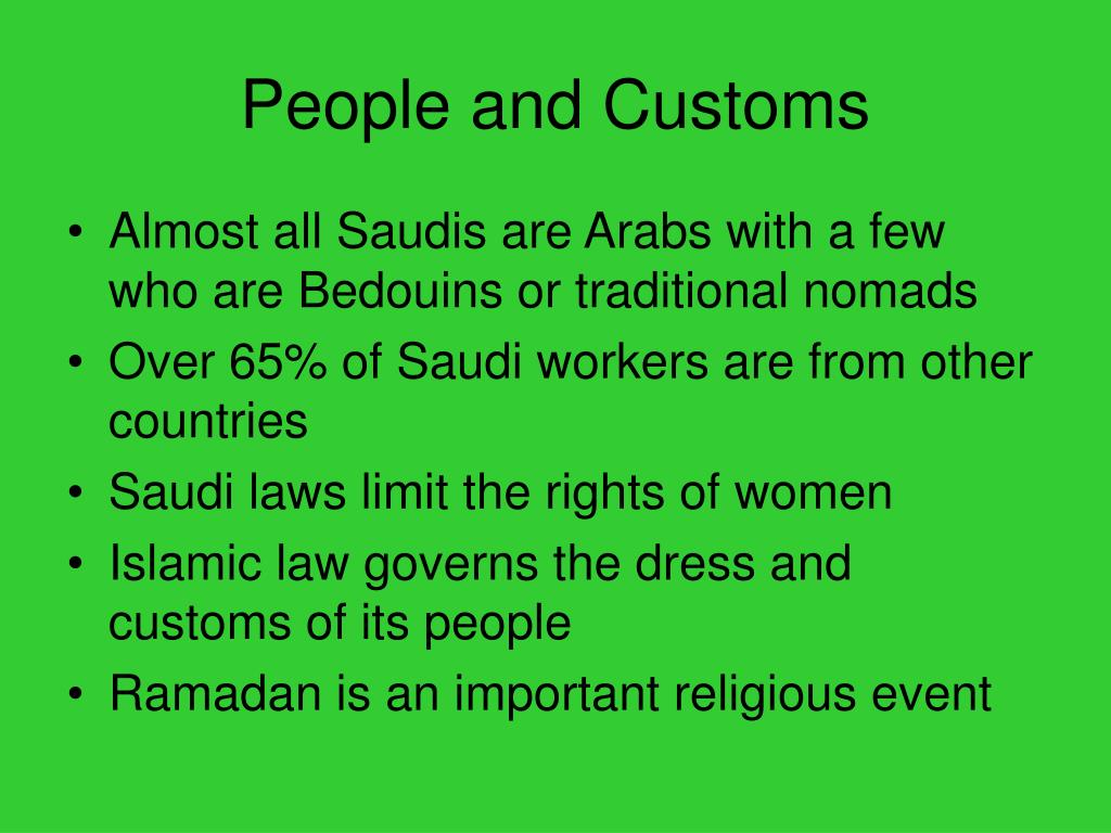 People and Customs