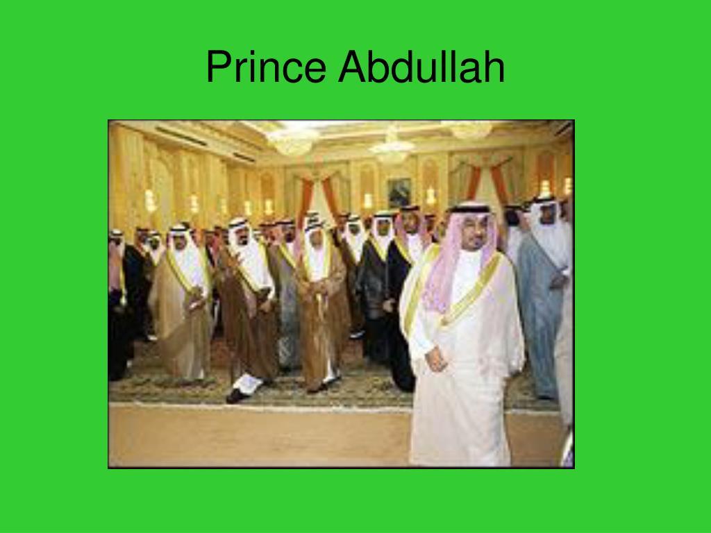 Prince Abdullah
