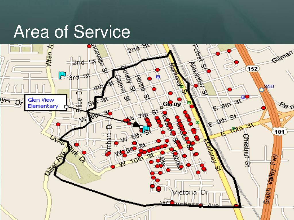 Area of Service