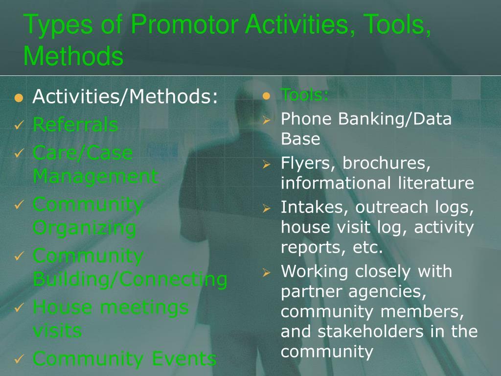 Activities/Methods: