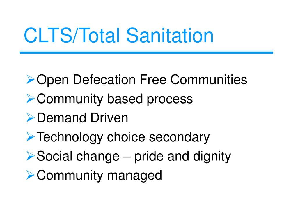 CLTS/Total Sanitation