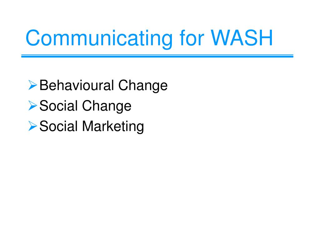 Communicating for WASH