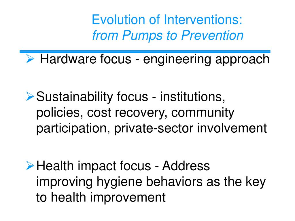 Evolution of Interventions: