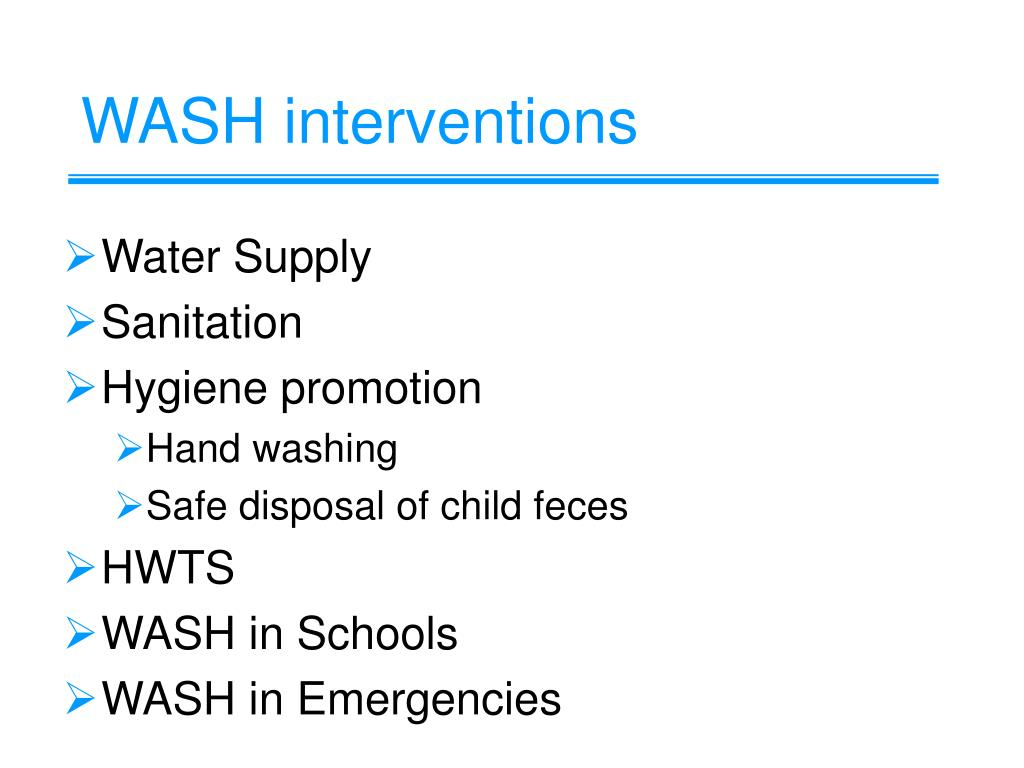 WASH interventions