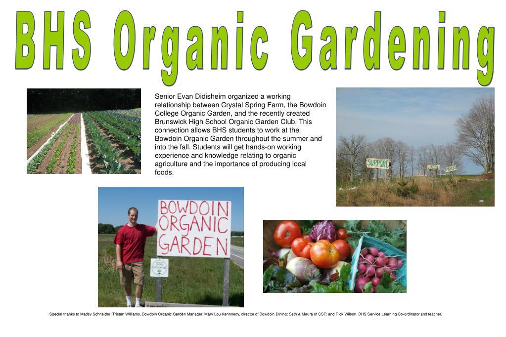 BHS Organic Gardening