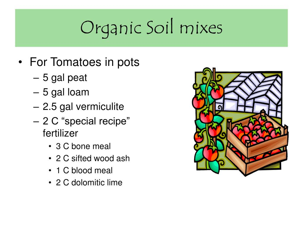 Organic Soil mixes