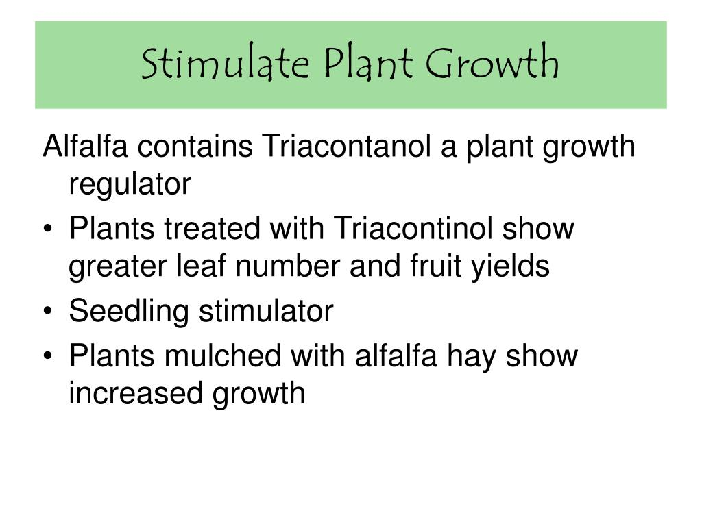 Stimulate Plant Growth