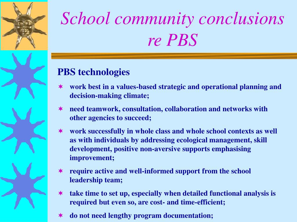 School community conclusions re PBS