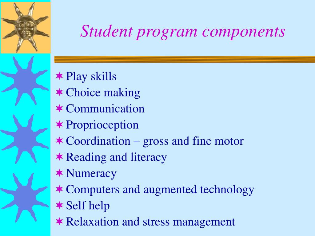 Student program components