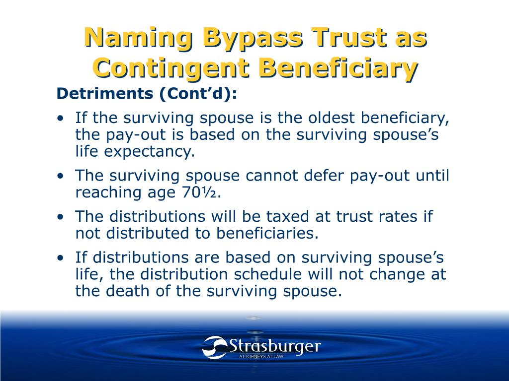 Naming Bypass Trust as Contingent Beneficiary
