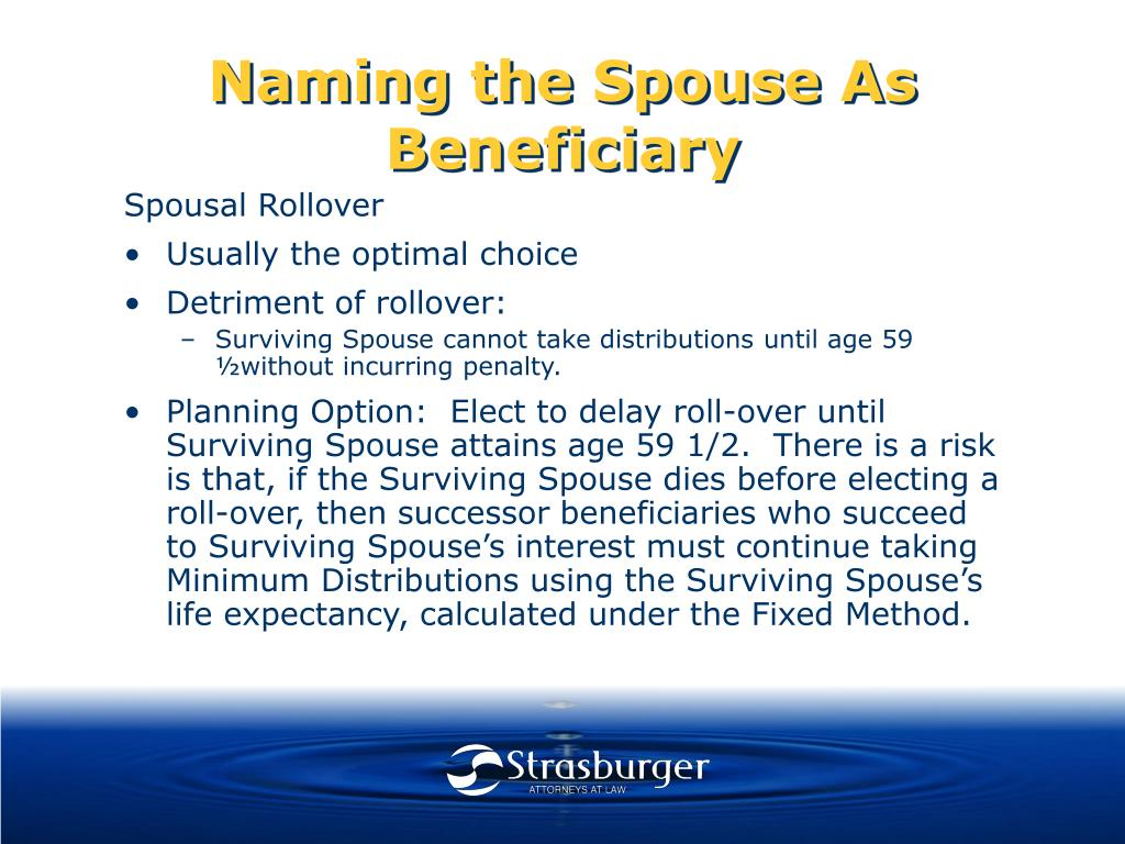 Naming the Spouse As Beneficiary