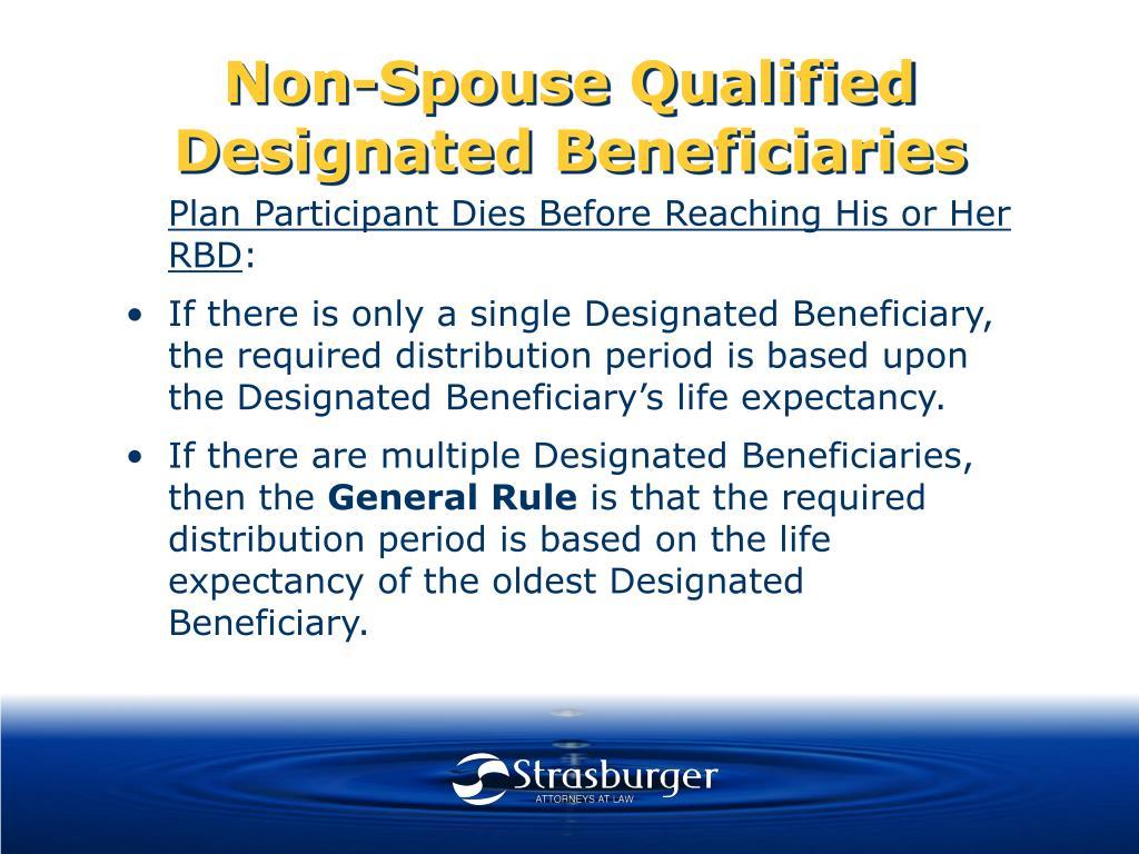 Non-Spouse Qualified Designated Beneficiaries