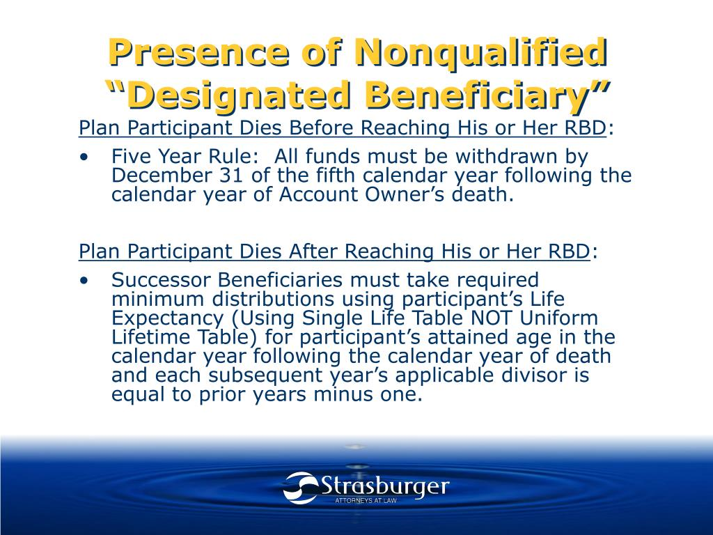 "Presence of Nonqualified ""Designated Beneficiary"""