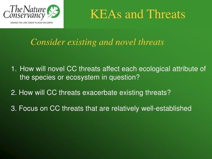 KEAs and Threats