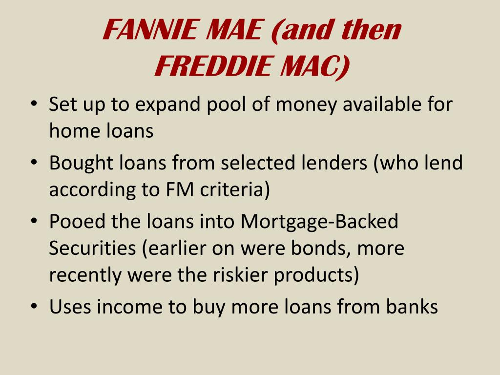 FANNIE MAE (and then