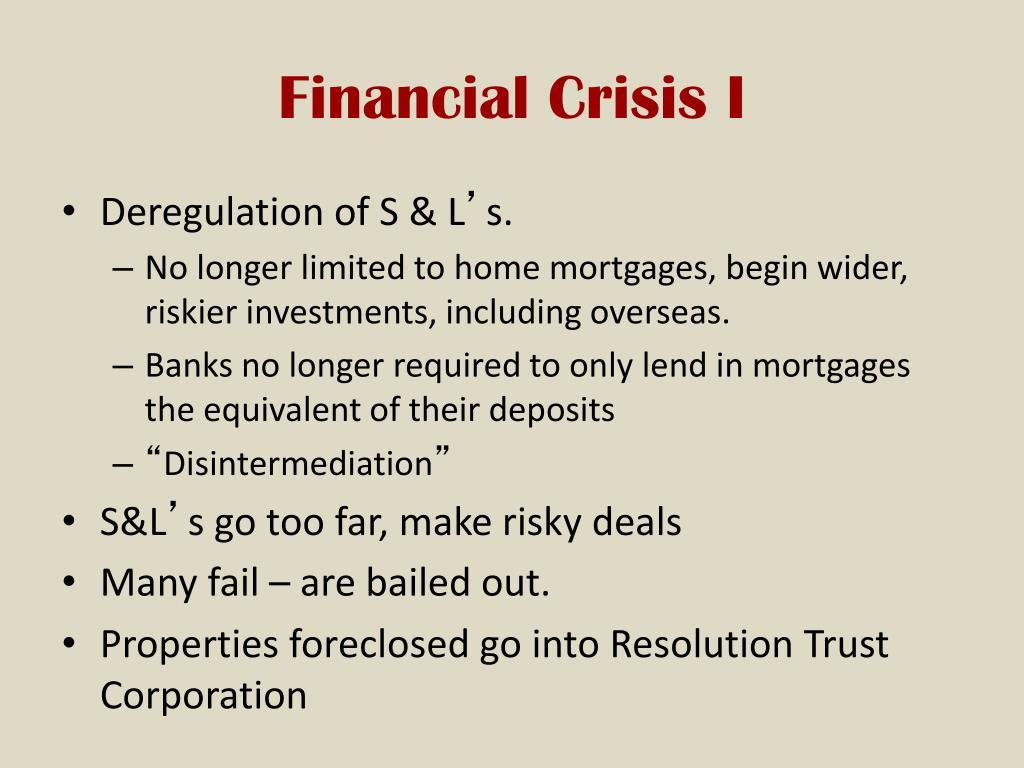 Financial Crisis I