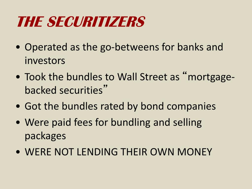 THE SECURITIZERS