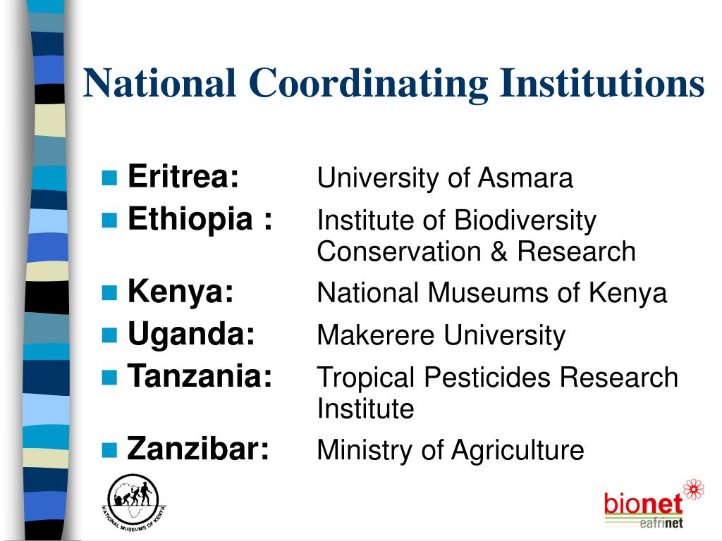 National Coordinating Institutions