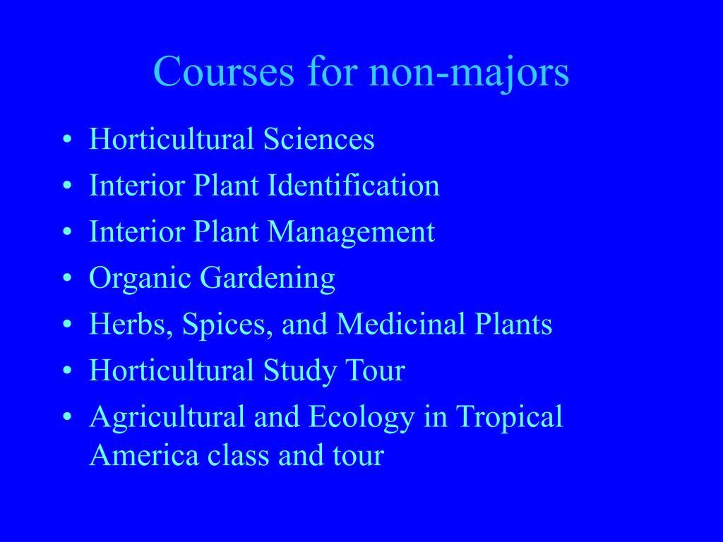 Courses for non-majors