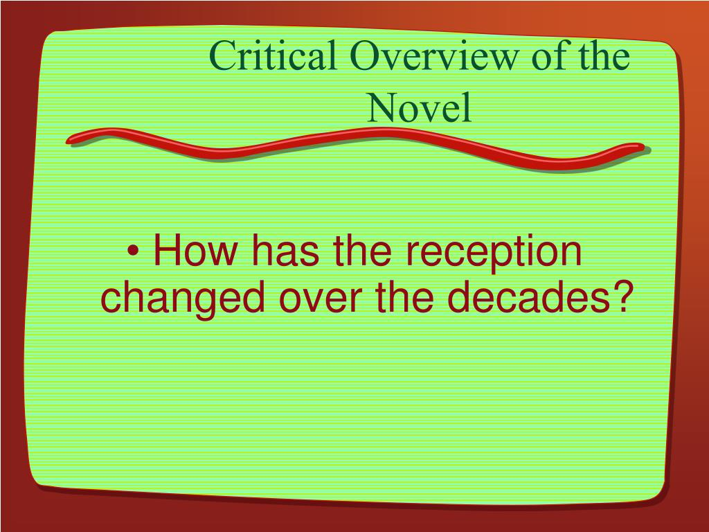 Critical Overview of the Novel