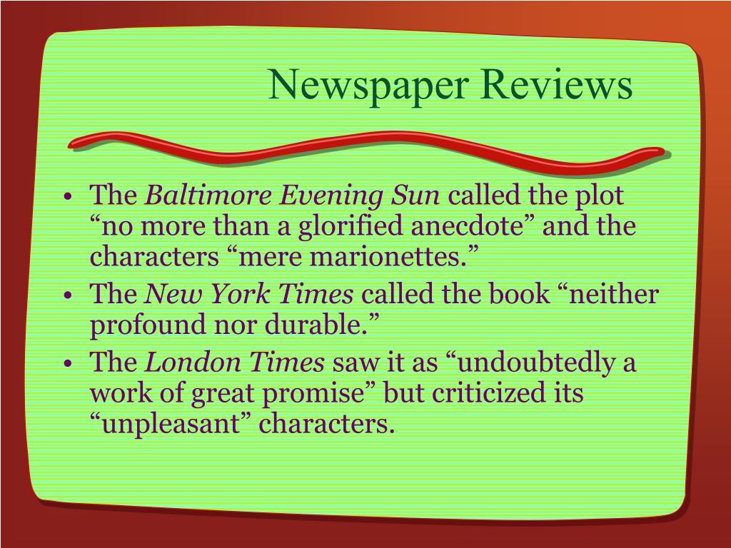 Newspaper Reviews