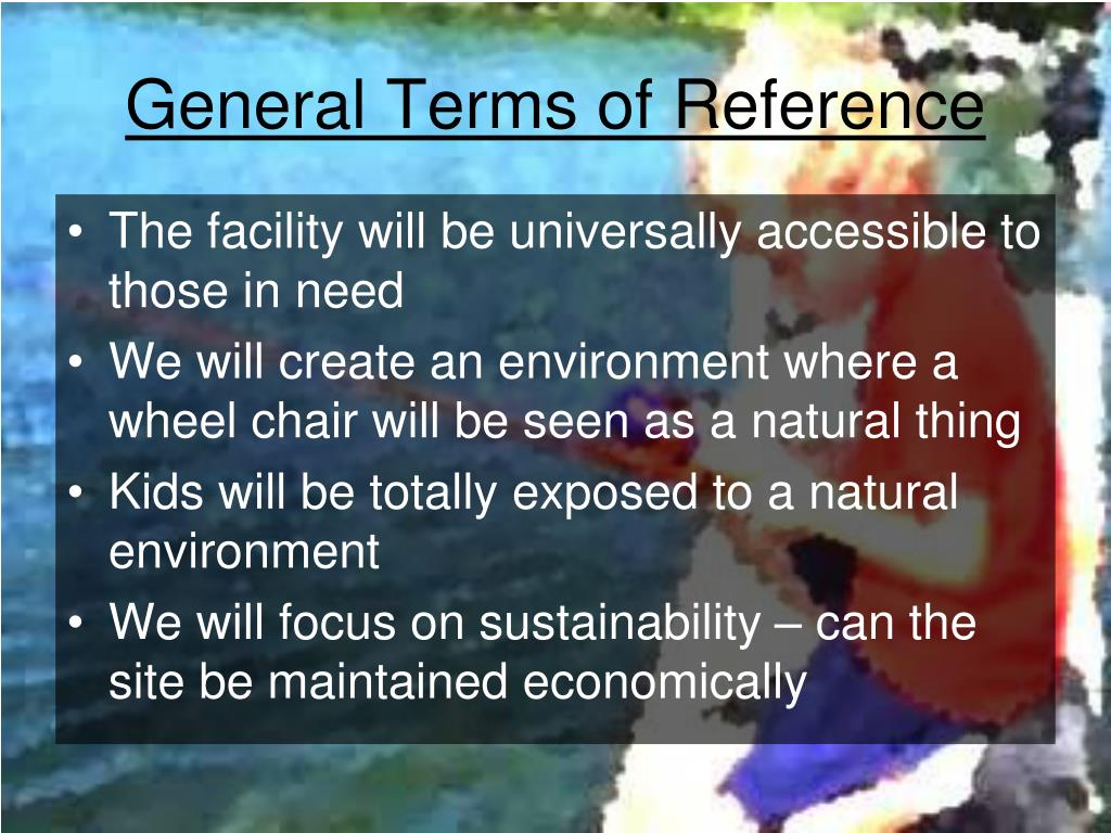 General Terms of Reference