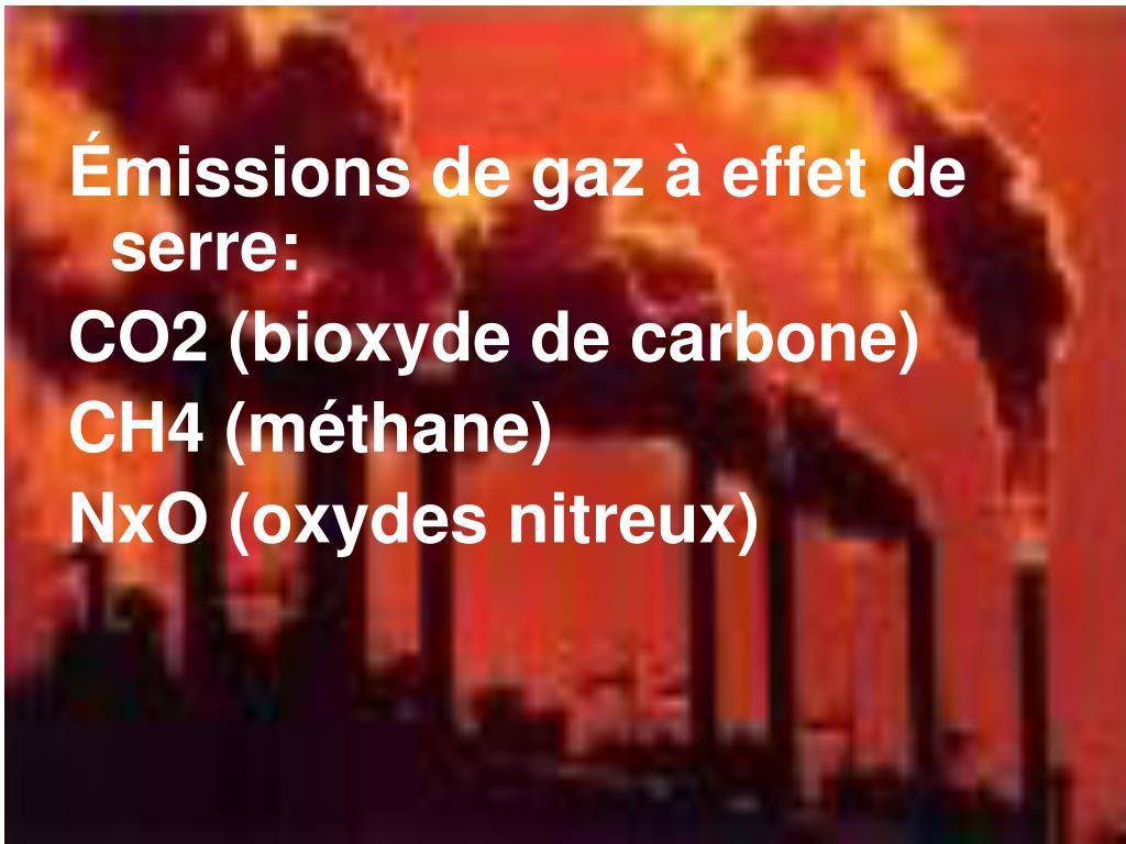 Émissions de gaz à effet de serre: