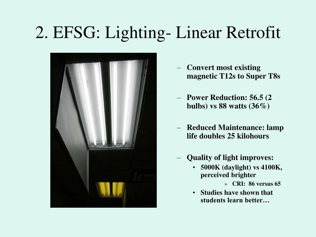 2. EFSG: Lighting- Linear Retrofit