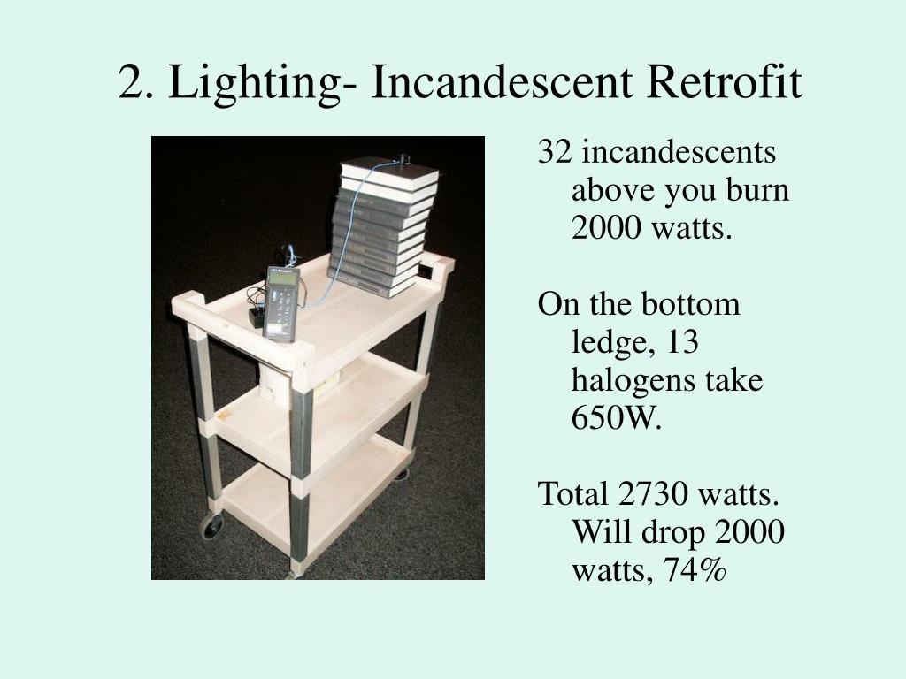 2. Lighting- Incandescent Retrofit