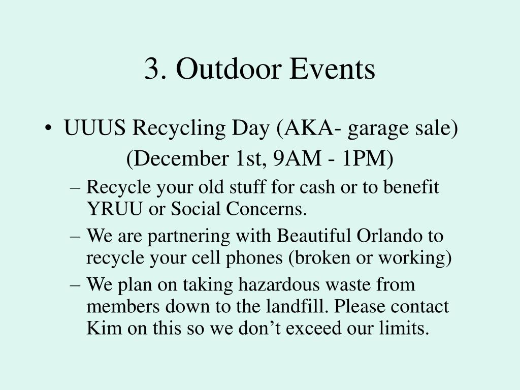 3. Outdoor Events