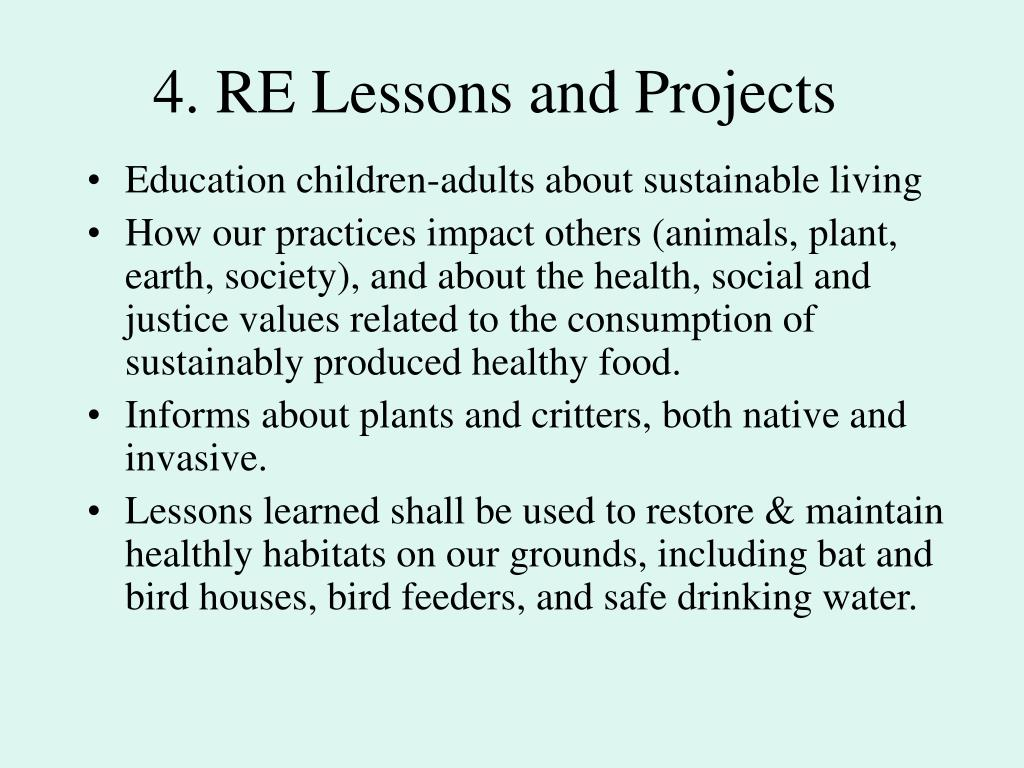 4. RE Lessons and Projects
