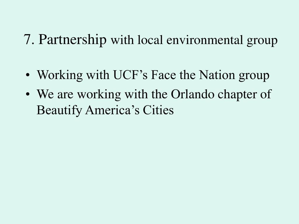 7. Partnership