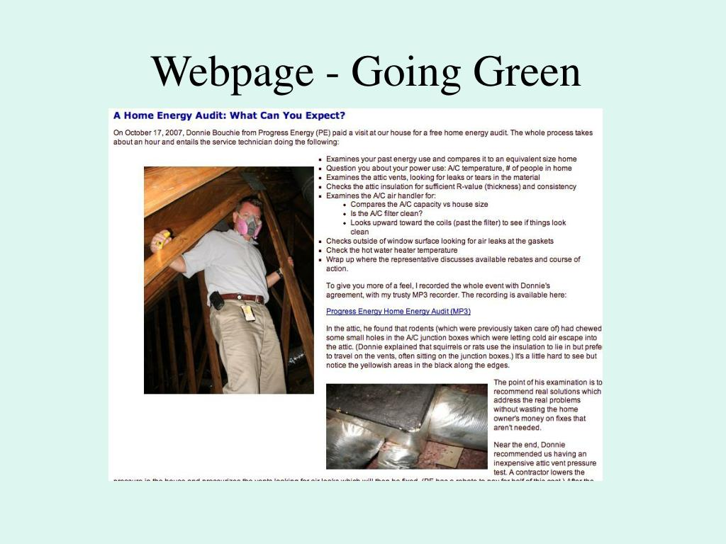 Webpage - Going Green