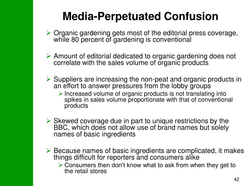 Media-Perpetuated Confusion