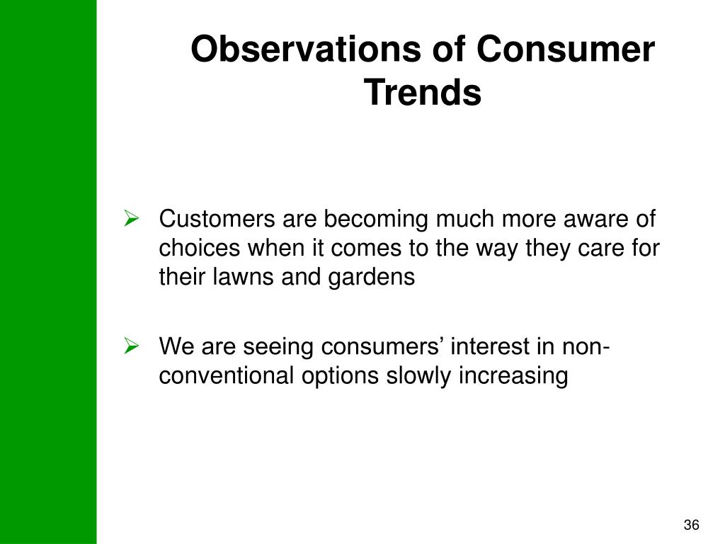 Observations of Consumer Trends