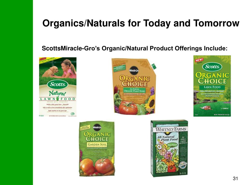 Organics/Naturals for Today and Tomorrow