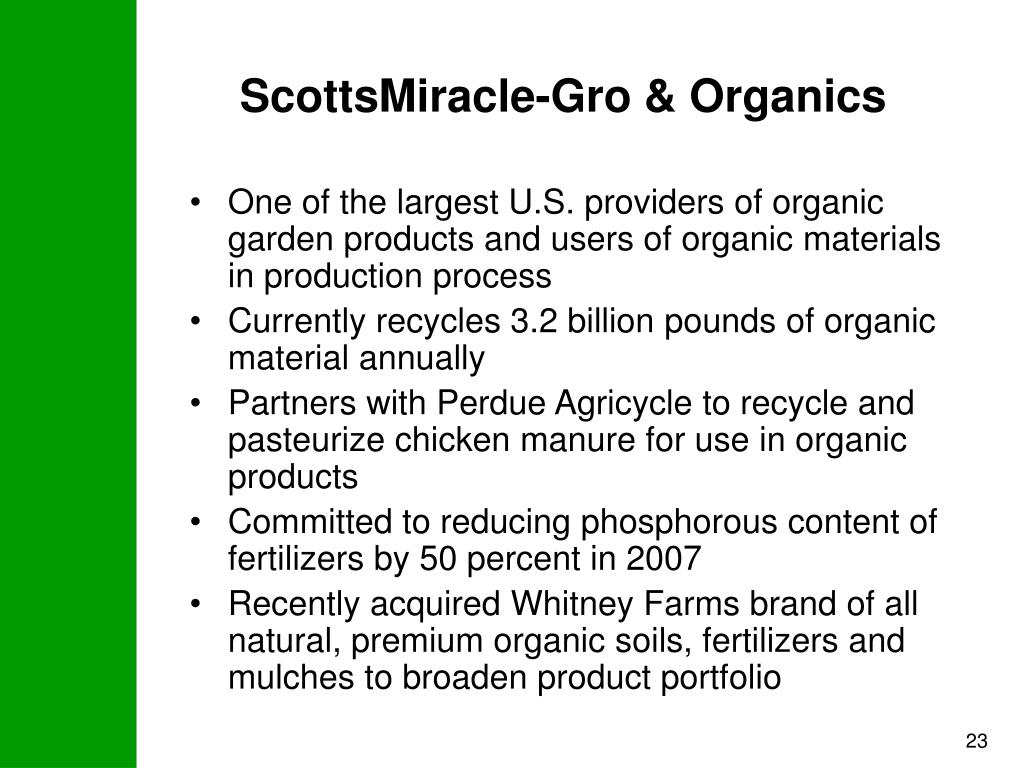 ScottsMiracle-Gro & Organics