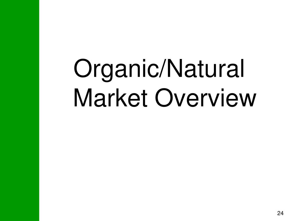 Organic/Natural  Market Overview