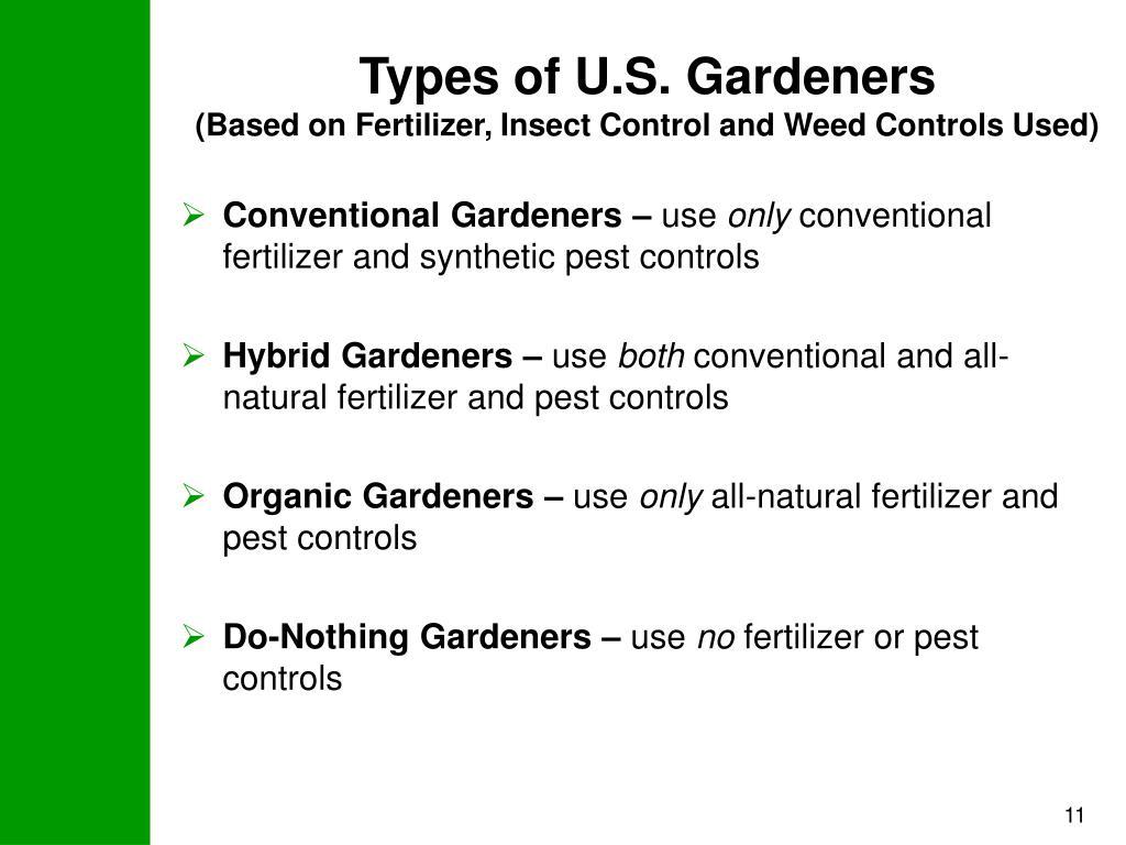 Types of U.S. Gardeners