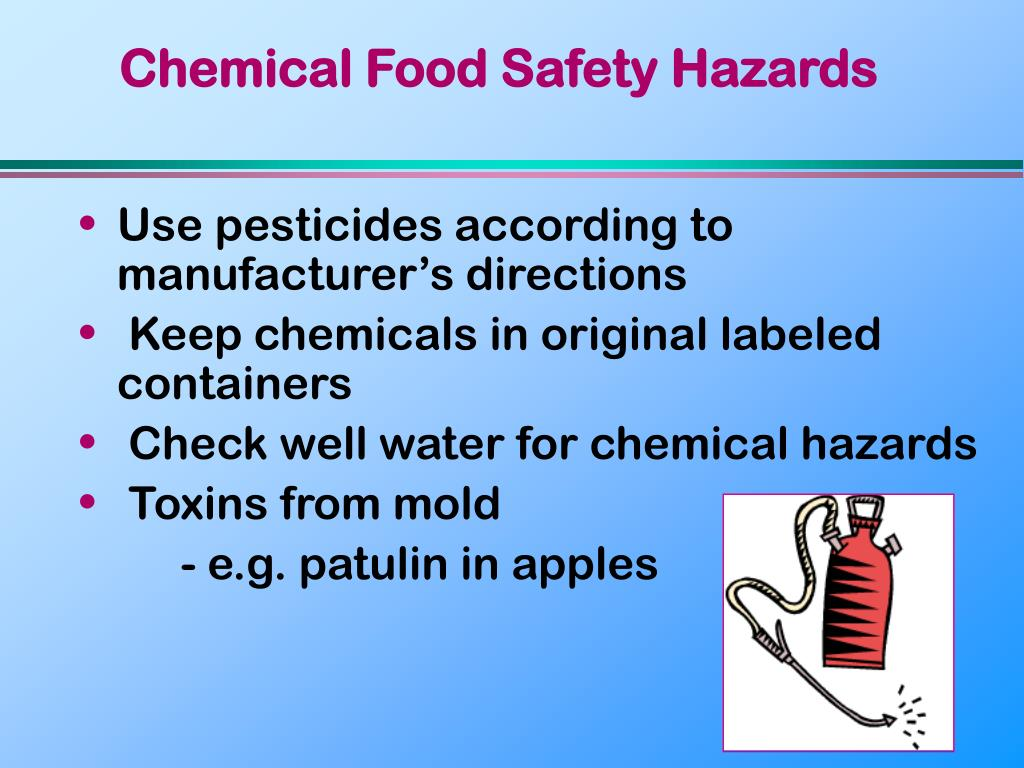 Chemical Food Safety Hazards