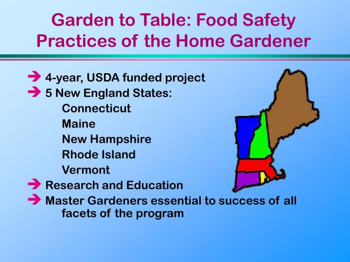 Garden to table food safety practices of the home gardener3