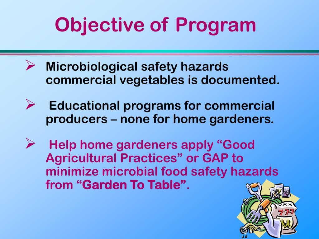 Objective of Program