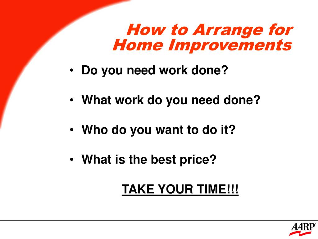 How to Arrange for Home Improvements