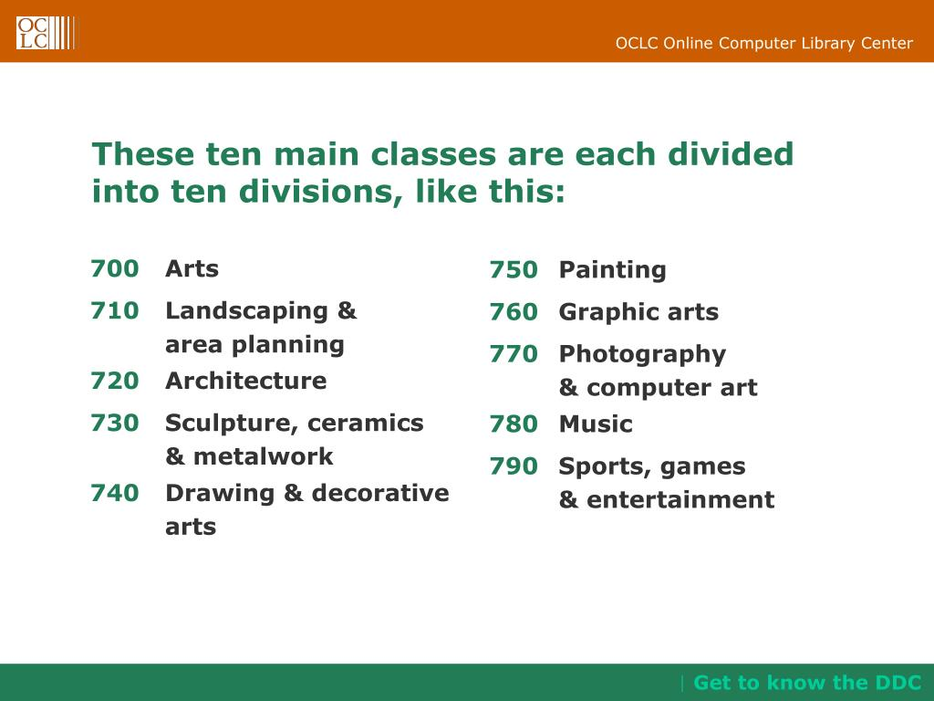These ten main classes are each divided