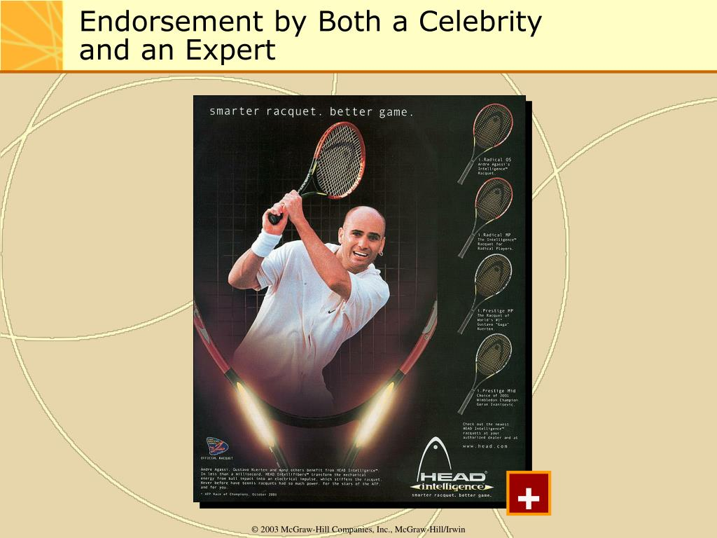 Endorsement by Both a Celebrity