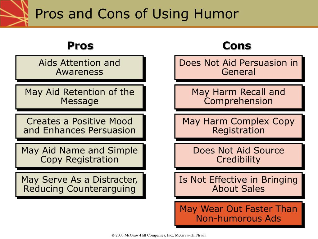Pros and Cons of Using Humor