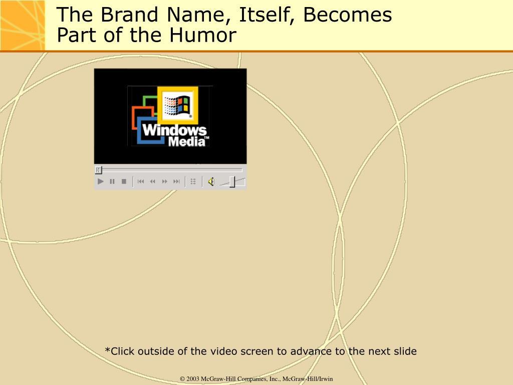 The Brand Name, Itself, Becomes