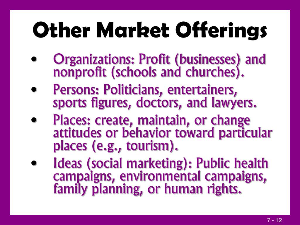 Other Market Offerings
