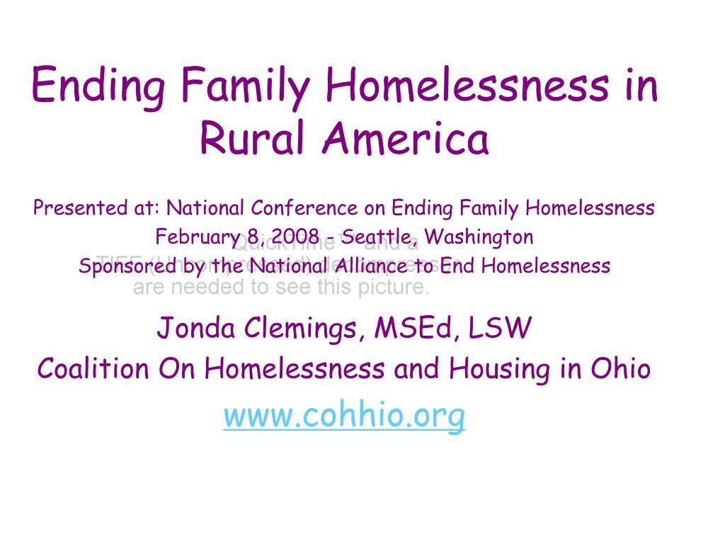 Ending Family Homelessness in Rural America